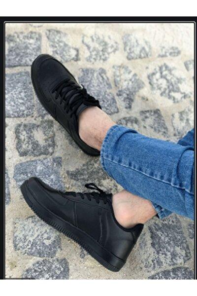 Unisex Siyah Günlük Sneaker Spor Ayakkabı