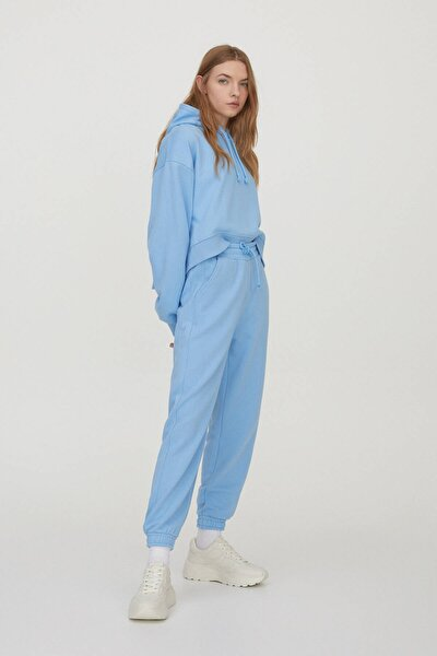 Kadın Mavi Pastel Renkli Jogging Fit Pantolon 04676354