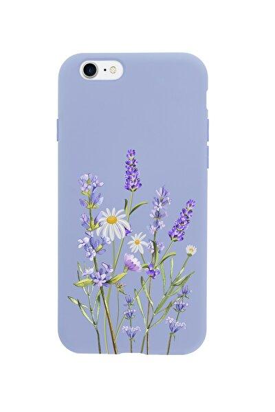 Iphone 8 Lavender Premium Lila Lansman Silikonlu Kılıf