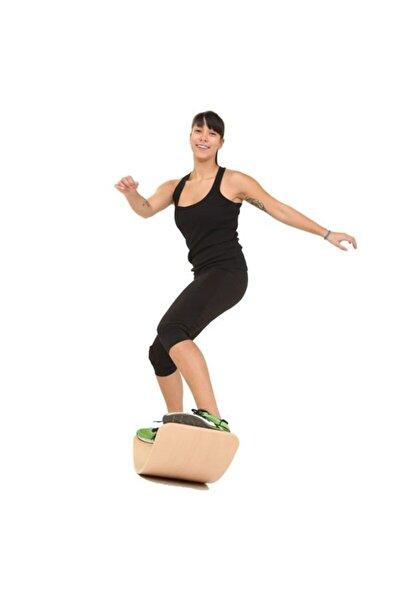 Denge Tahtası Balance Board Yoga Spor Egzersiz Fitnes Platformu 90x30cm Naturel Kontraplak