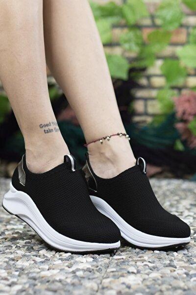 Siyah Beyaz Kadın Sneaker 00121805