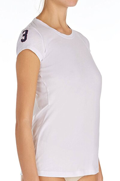 Kadın Beyaz O Yaka T-shirt Us.01.66054