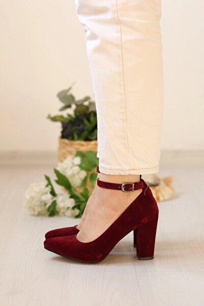 Kadın Bordo Kuzu Stiletto Ayakkabı