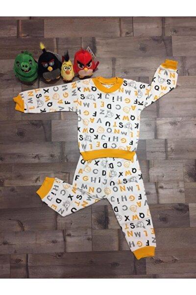 Erkek Çocuk Sarı  Pijama Takım