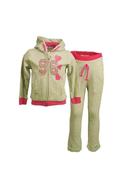 Kız Çocuk Eşofman Takımı 2 Prç Pantolon Hırka 3-7 Yaş Gri 17937