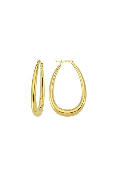 Oval Hoop Earring - Gold
