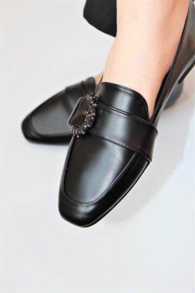 Kadın Siyah Klasik Babet Ayakkabı