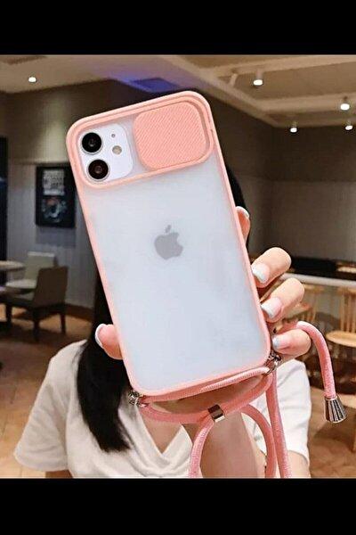 Iphone 12 Kamera Korumalı Ipli Boyun Askılı Telefon Kılıfı