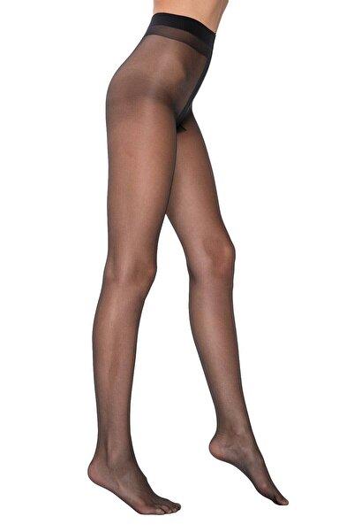 Siyah Izsiz Külotlu Çorap Fit 15
