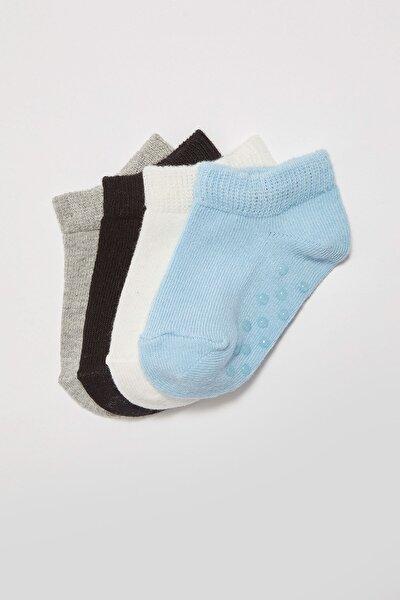 Erkek Bebek Gri Melanj Ct3 Çorap