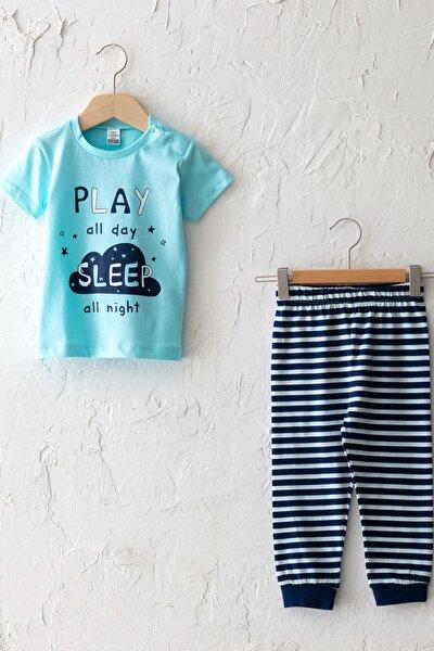 Erkek Bebek Turkuaz M5V Pijama Takımı
