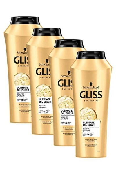 Ultimate Oil Elixir Besleyici Şampuan 500 ML 4'lü
