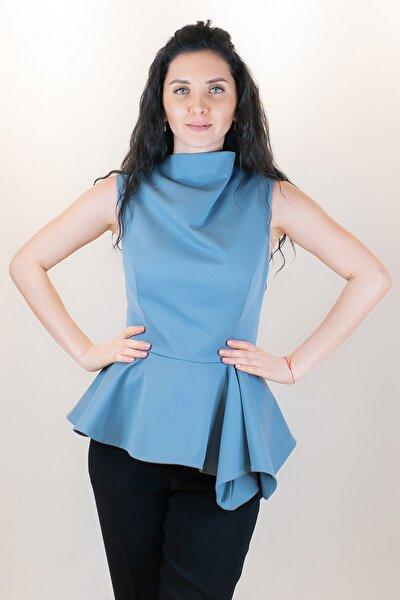 Kadın Mavi Bluz