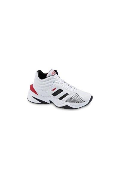 24774 Beyaz-siyah-kırmızı Erkek Spor Ayakkabı