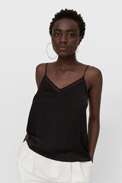 Kadın Siyah Saten Top 02042679