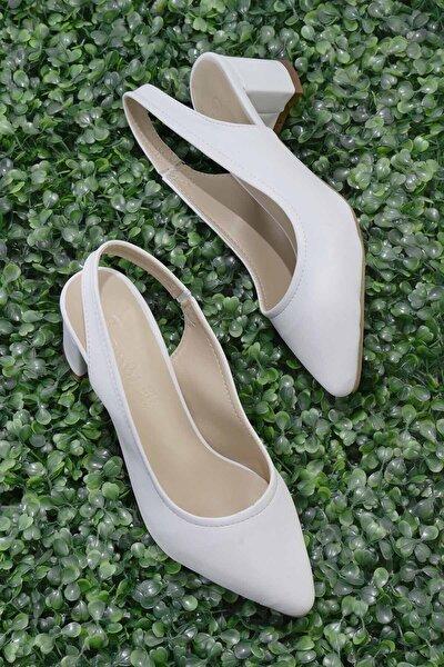 Beyaz Kadın Klasik Topuklu Ayakkabı K01503721009