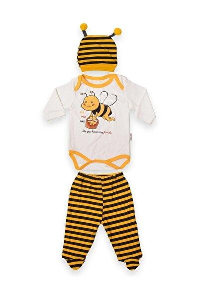 Üçlü Arılı Badili Bebek Takım Çıtlı Bebek Zıbın Takım Kız Bebek Erkek Bebek