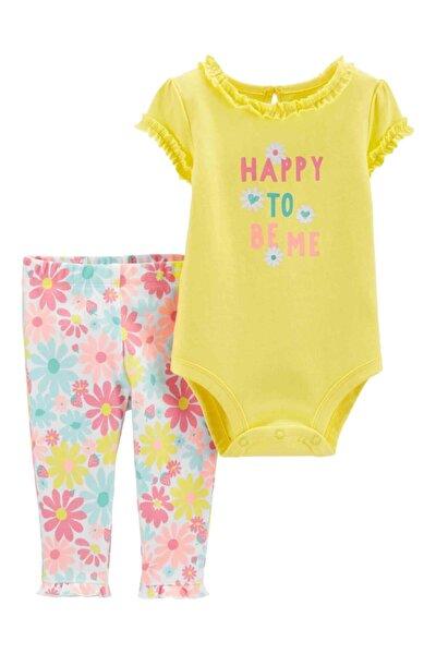 Kız Bebek Sarı Takım Set 2'li