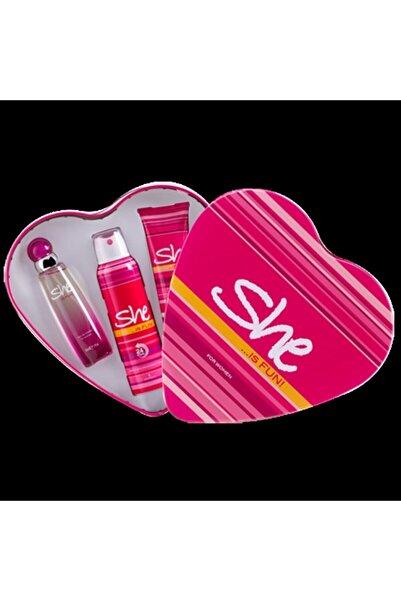 Fun Set Kalp 50ml Edt + Deodorant 150 Ml + Vücut Losyonu 75 Ml 3lü Set