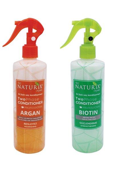 Bitkisel Set Argan Bakım + Biotin Bakım Fön Suyu Iki Fazlı Saç Açıcı Sprey 400 Ml Saç Kondisyoneri