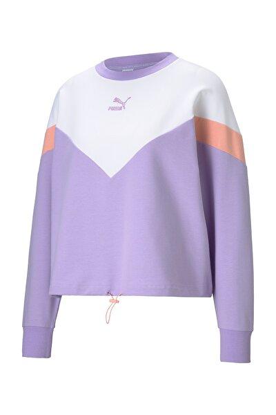 Kadın Spor Sweatshirt - Iconic MCS Cropped Crew Light Lavender - 59965416