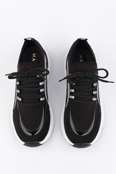 Kadın Siyah Streç Sneaker Ayakkabı Alvez