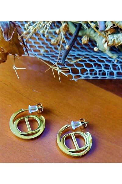 Çelik Ithal Cd Model Altın Küpe