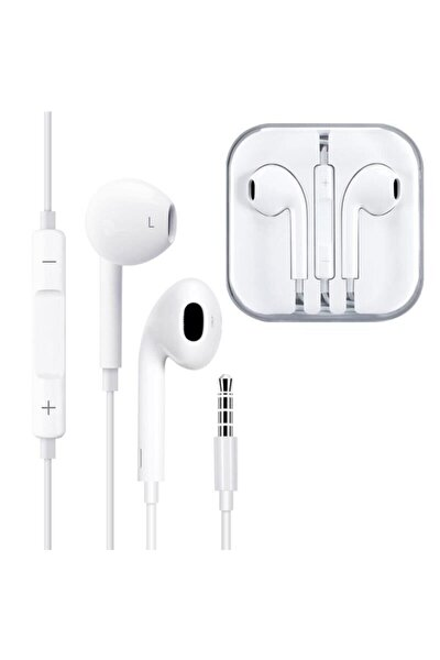 Beyaz Kablolu Telefon Kulaklığı