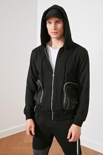 Siyah Erkek Regular Fit Sweatshirt TMNSS21SW0306