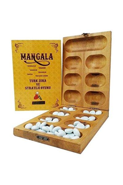 Ahşap Kutulu Mangala Strateji Ve Zeka Oyunu