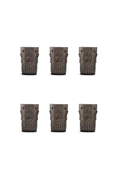 Akrilik Füme Kısa Bardak 3 Bardak + 3 Bardak