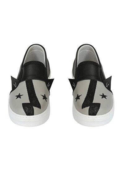 Erkek Çocuk Siyah Şimşek Star Sneakers Ayakkabı