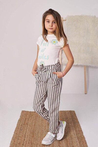 Kız Çocuk Çizgili Pantolon