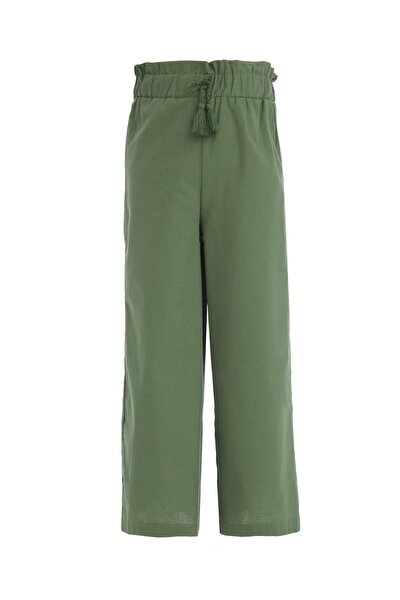 Kız Çocuk Yeşil Culotte Pantolon