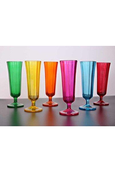 Kahve Yanı Su Bardağı Flüt Model 6'lı Cam