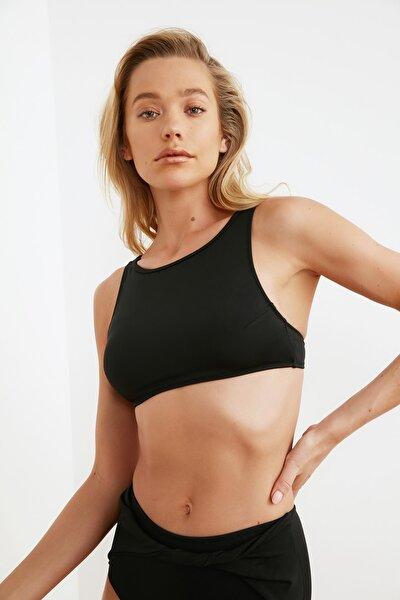 Siyah Halter Yaka Bikini Üstü TBESS21BU0099