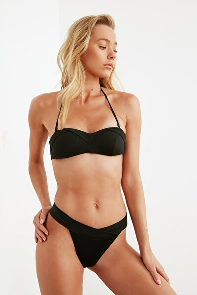 Siyah V Kesim Bikini Altı TBESS21BA0060