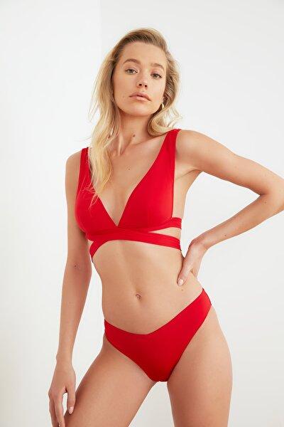 Kırmızı V Kesim  Bikini Altı TBESS21BA0122