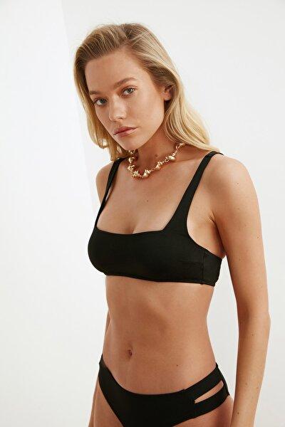 Siyah Parlak Bikini Üstü TBESS21BU0303