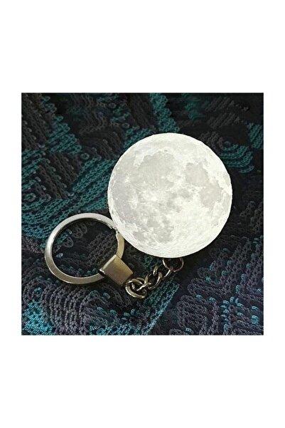 3d Moon Lamba Işıklı Ay Anahtarlık