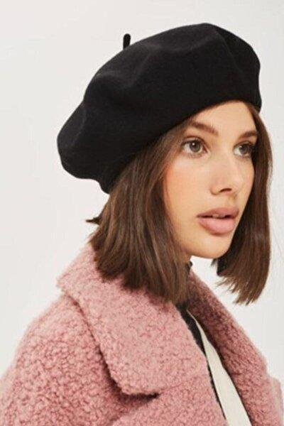 Kadın Siyah Fransız Ressam Bere Şapka