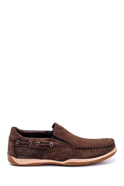 Erkek Kahverengi Nubuk Loafer Ayakkabı