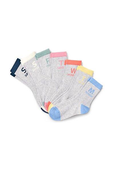 Organik Pamuklu Gün Yazılı Çorap Seti 112896