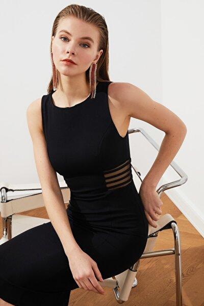 Siyah Bel Detaylı Elbise TPRSS21EL2191