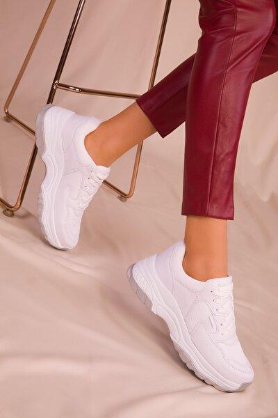 Beyaz Kadın Sneaker 15956