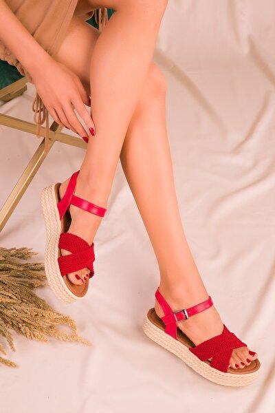 Kırmızı Kadın Sandalet 14952