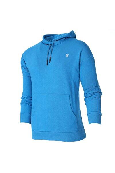 Erkek Swemankap Mavi Günlük Stil Sweatshirt 711341-ptr