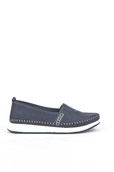 , Kadın Hakiki Deri Ayakkabı 111354 05 Lacıvert