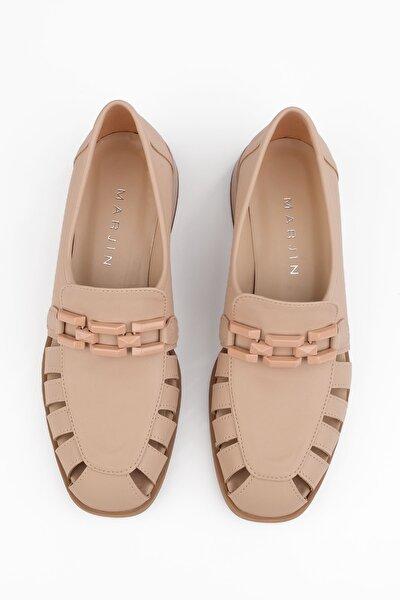 Kadın Bej Loafer Ayakkabı Jenay