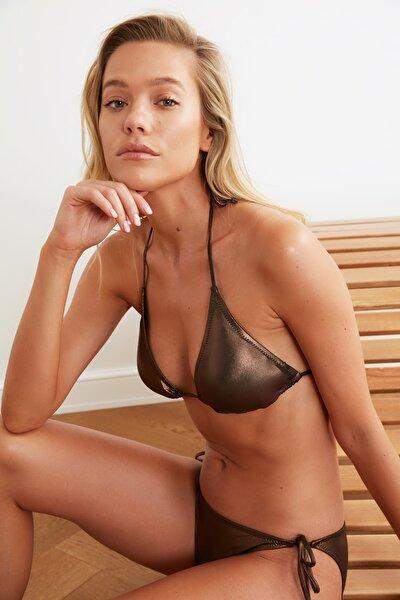 Bronz Parlak Üçgen Bikini Üstü TBESS21BU0387